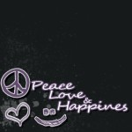 Peace, love, and happiness