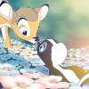 Bambi and Flower