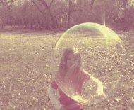 through this bubble