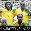 South Africa:Teammates!