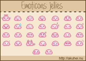 Jellies Emoticons