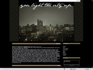 You Light The City Up