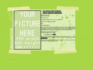 'Your Picture Here' Fresh Green