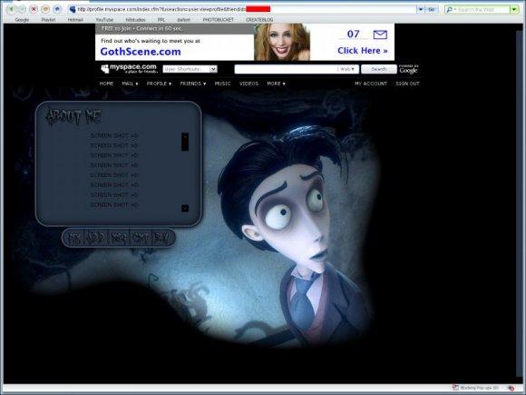 corpse bride site myspace com