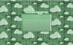 Tech Light Green CloudBG v1