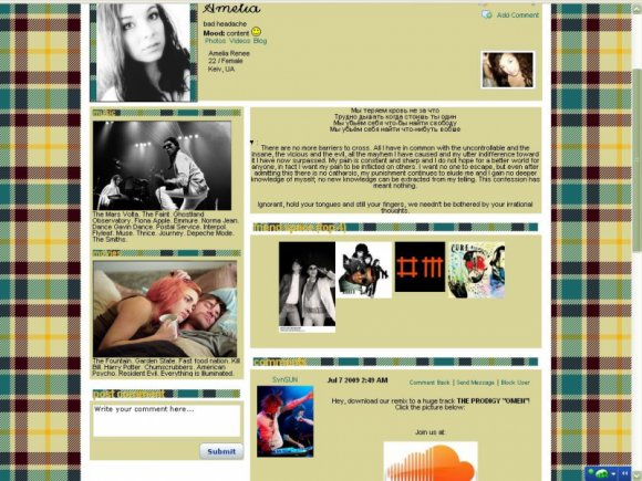 Sexy and cute myspace layouts