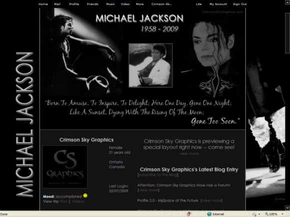 Celebrity layouts for myspace 1 0