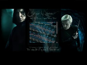 Malfoy & Snape