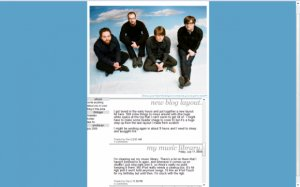 Death Cab for Cutie Layout