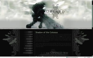 The Opened Way-Shadow of the Colossus