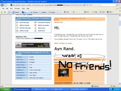 Bottom hiding links myspace