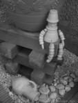 Pot Man and Pebbles