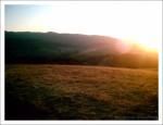 as the sun says goodbye.