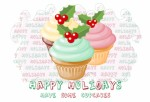 happy holidays - have some cupcakes