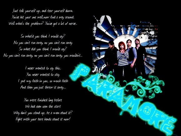 Paramore Wallpaper with lyrics - Wallpapers - CreateBlog