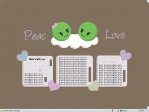 Peas and Love.