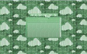 Tech Light Green CloudBG v1