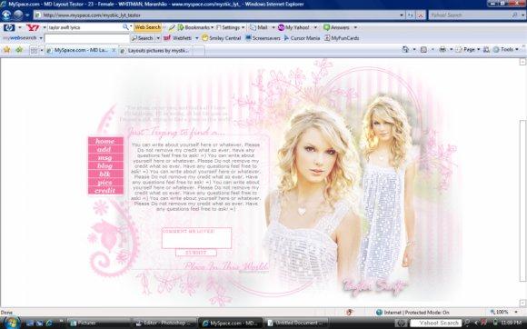 Taylor Swift Myspace Layouts Createblog